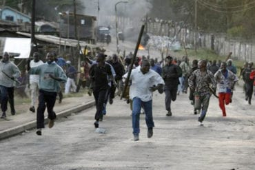 Post-election violence in 2007.