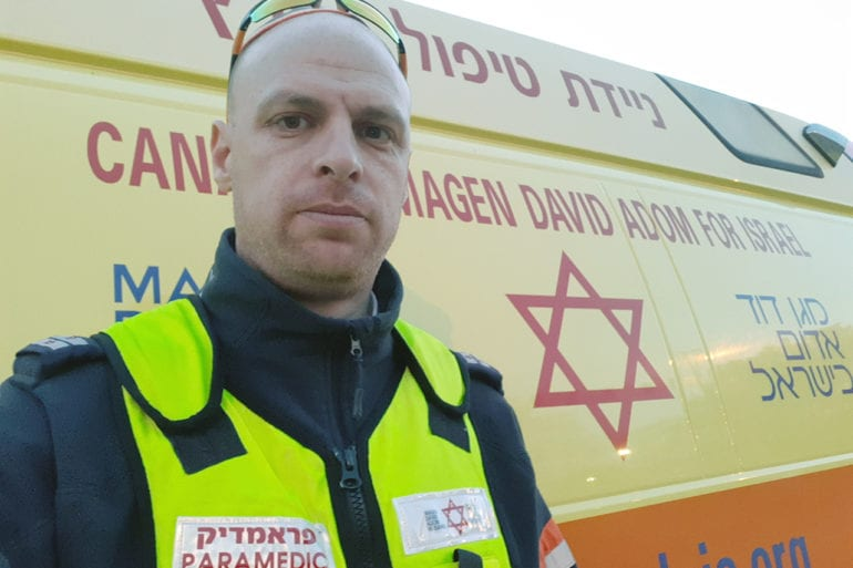 Paramedic Aryeh Myers has worked with Magen David Adom for 8 years. He was a paramedic for the London Ambulance Service for 10 years before moving to Israel.