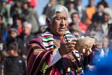Nicolas Preci photo of an elder giving a blessing.