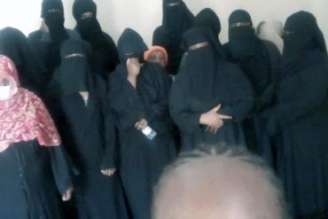 Wanja and other detainees at Sakan deportation facility in Riyadh, Saudi Arabia. Most of them have been forced to dress in hijabs as an absolute rule by their employers