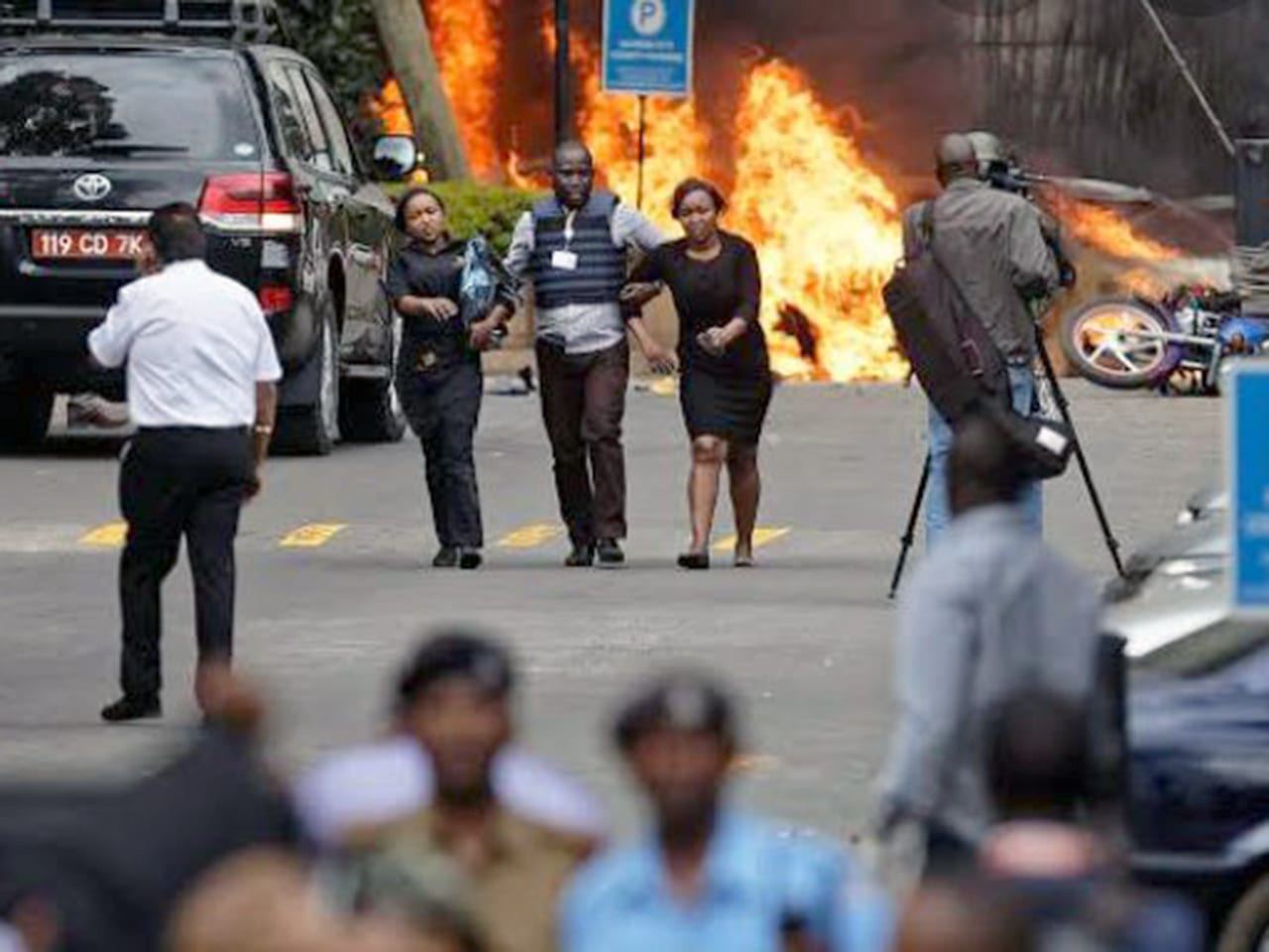 The aftermath of a terror attack in Kenya