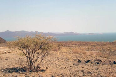 Lake Turkana, Kenya, seen from a distance