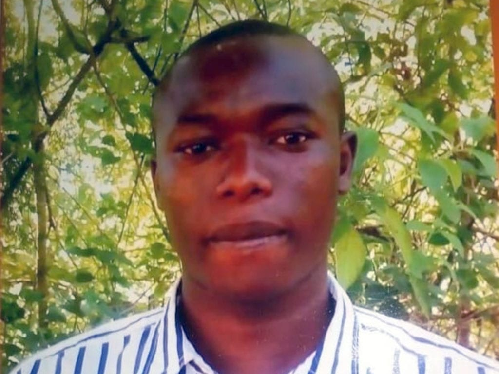 Dan Matakaya pictured before the acid attack incident.