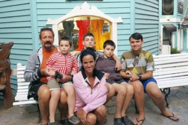 Deborah Kahan with Rocco and the rest of the family