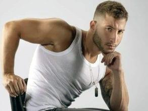 Lucas Poggi in a modelling shoot